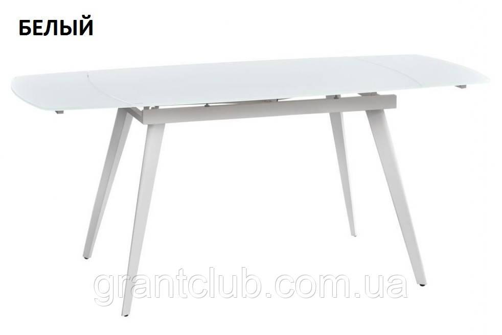 Стол LARGO MATT WHITE 120/180 белый (бесплатная доставка)