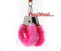 НАРУЧНИКИ с  розовым мехом SEXY подарок  прикол игрушка для секса