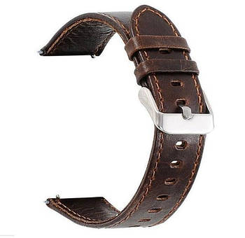 Кожаный ремешок Primo для часов Garmin Vivoactive 3 / Vivomove HR / Forerunner 245/645 - Dark Brown