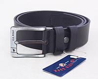 Мужской кожаный ремень U.S. Polo джинсовый
