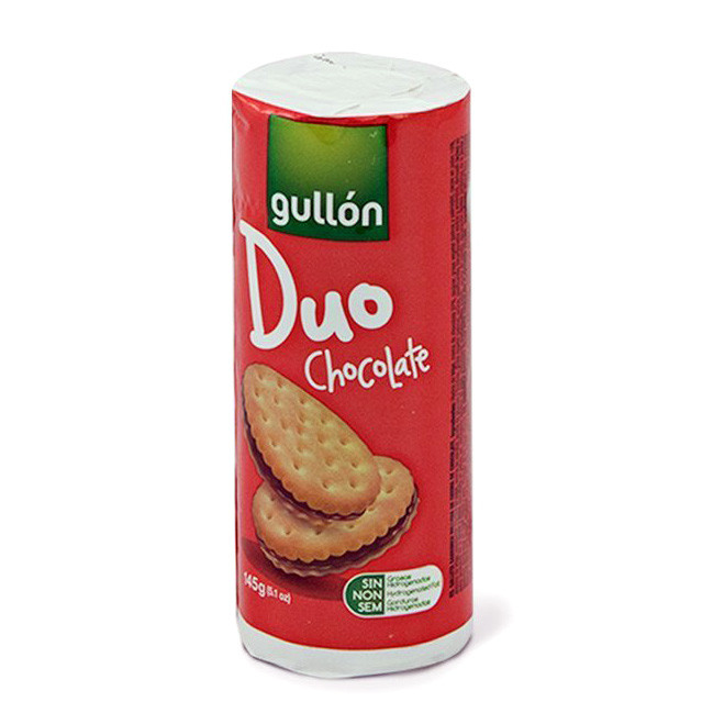 Печиво GULLON Duo світле з шоколадним кремом, 145г, 24шт/ящ
