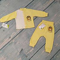 Кофта и штаны на манжете для мальчика (интерлок), рост 68/3-6 мес