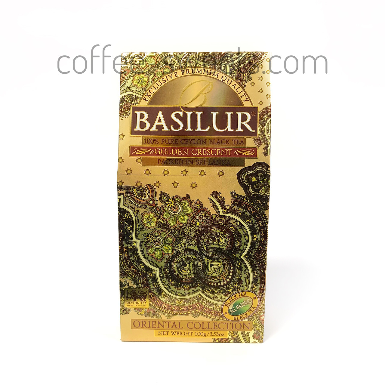 Чай черный байховый Basilur Восточная коллекция Golden Crescent (золотой месяц) 100g