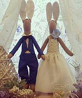 """Зайки свадебные  """"BUNNY WEDDING"""" Свадебные украшения ручной работы"""