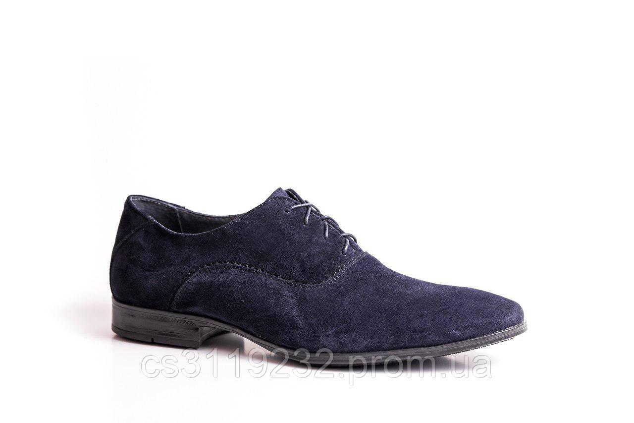 Туфлі замшеві сині Mano