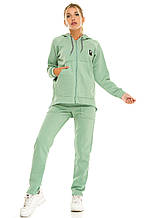 Женский теплый спортивный костюм 439 зеленый