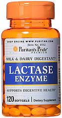 Puritan's Pride Lactase Enzyme, Лактаза (120 капс.)