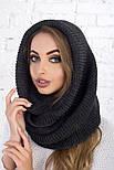 Женский вязаный шарф хомут-снуд (в расцветках), фото 2