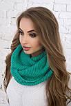 Женский вязаный шарф хомут-снуд (в расцветках), фото 3