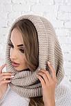 Женский вязаный шарф хомут-снуд (в расцветках), фото 4
