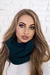 Женский вязаный шарф хомут-снуд (в расцветках), фото 5