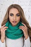 Женский вязаный шарф хомут-снуд (в расцветках), фото 8