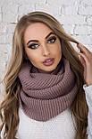 Женский вязаный шарф хомут-снуд (в расцветках), фото 6