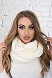 Женский вязаный шарф хомут-снуд (в расцветках), фото 9