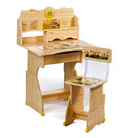 Детская парта для обучения и стульчик Миньоны
