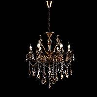 Классическая люстра-свеча на 6 лампочек СветМира VL-7184/6 (GAB)