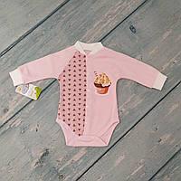 Гольф детский с длинными рукавами на кнопках, р. 68 (3-6 месяцев)