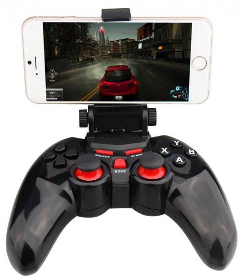 Джойстик Dobe Ti 465 Bluetooth с крепениям для телефона, беспроводной геймпад Добе Ти для Android, IOS, PC