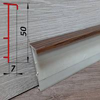Напольный плинтус для ковролина, высотой 50 мм, 2,5 м Махагон, фото 1