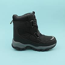 Термо ботинки черные для мальчика зимняя обувь тм Том.м размер 37, фото 3