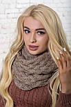 Женский вязаный шарф хомут-снуд восьмерка с узором Коса(в расцветках), фото 5