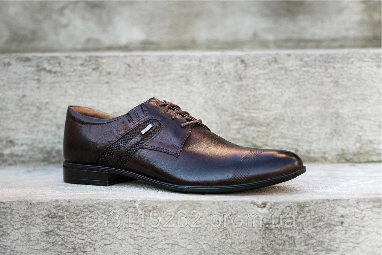 Туфлі дербі коричневі Lemar