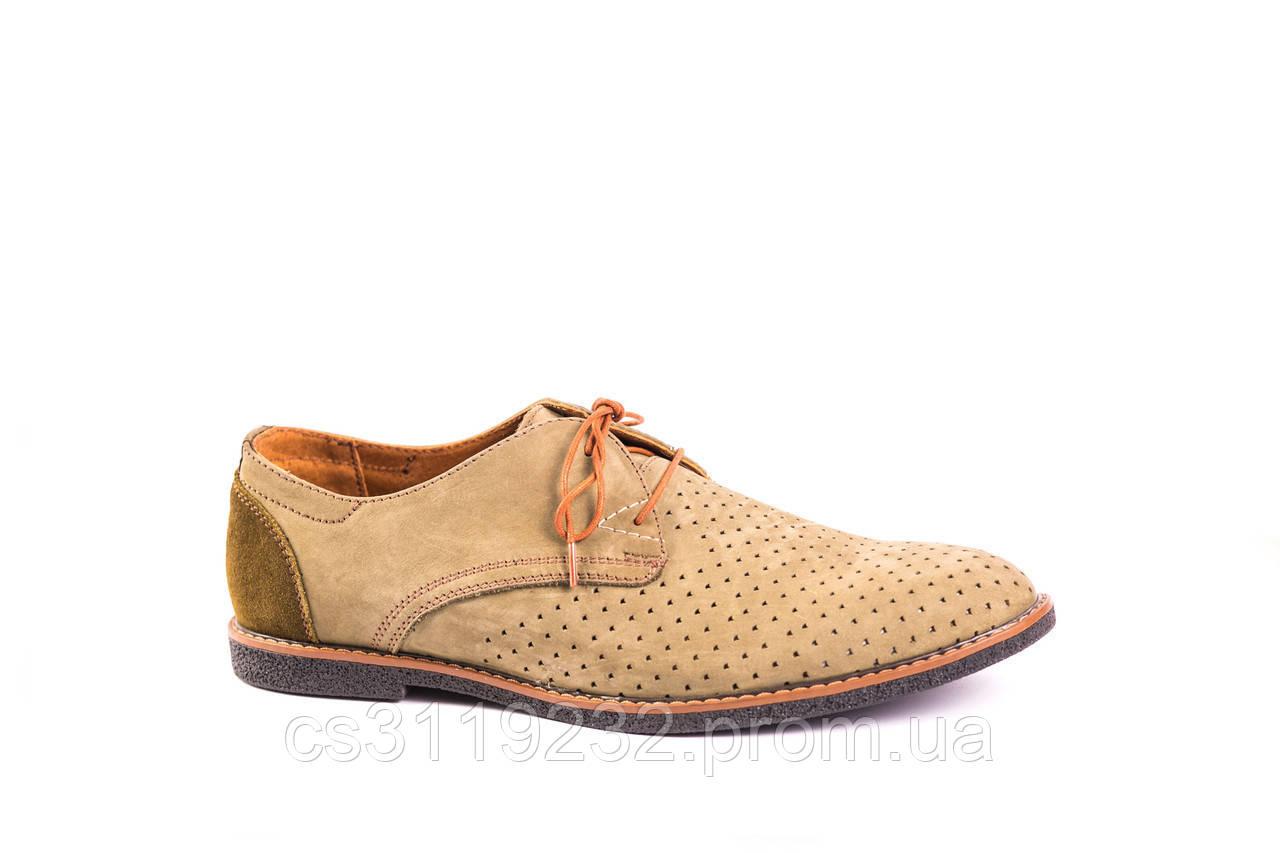 Туфлі нубук VadRus бежеві