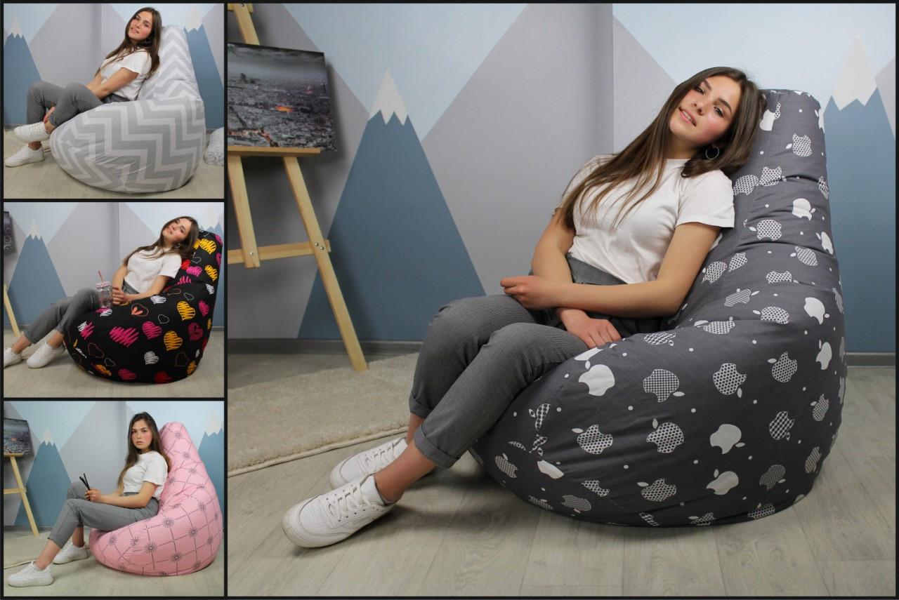 Кресло мешок груша Оксфорд 85*105 см, Цвет Черный
