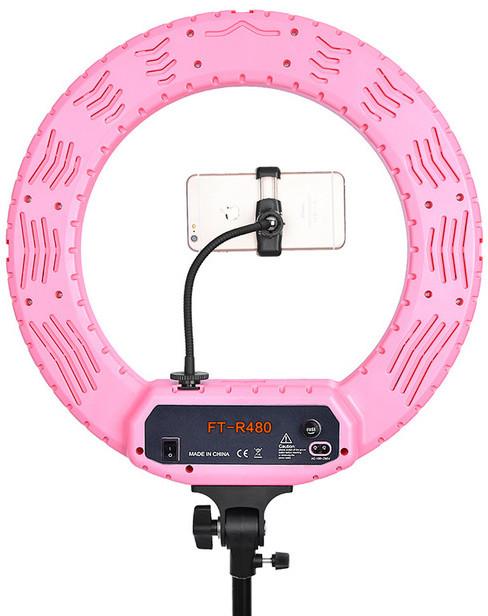 Профессиональная кольцевая лампа MakeUp FT-R480 с штатив-треногой для косметологии
