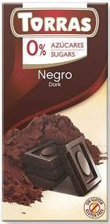 Torras Черный шоколад без сахара