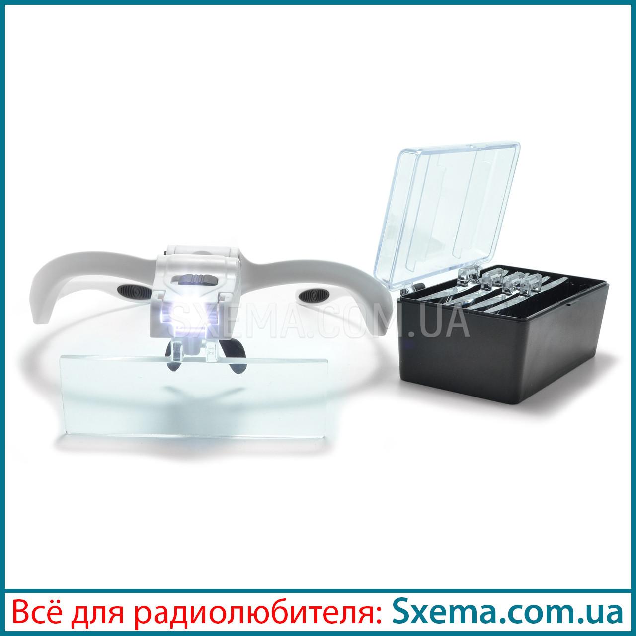 Бинокулярные лупы очки 9892BP (1.0x-3.5x) c Led подсветкой