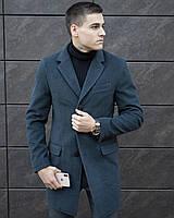 Пальто-тренч мужское кашемировое демисезонное / Coat темно-серое