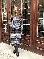 Женский осенний плащ пальто длинный утеплённый стёганый