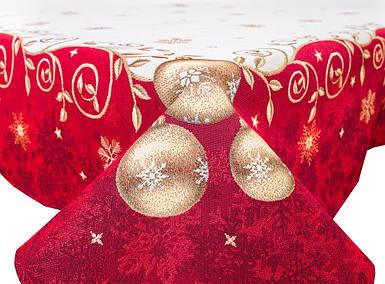 """Скатерть новогодняя гобеленовая """"Новорічне диво"""" 97 х 100 см скатертина новорічна гобеленова"""
