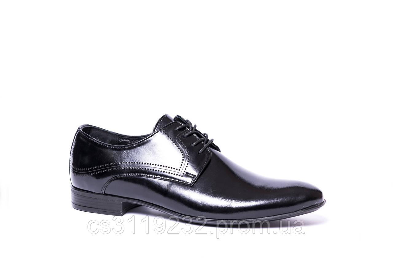 Туфлі дербі чорні Tapi