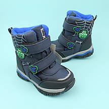 Термо ботинки синие на мальчика Паучок тм Том.м размер 25, фото 2