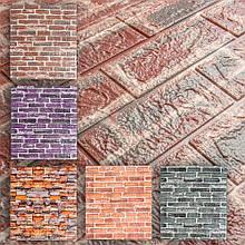 3D Панель для стен: цветной кирпич (разные цвета)