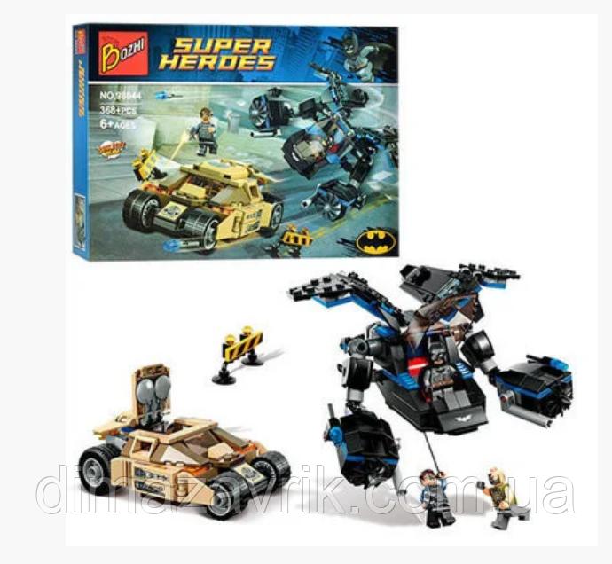 "Конструктор Bozhi 98044 (Аналог Lego Super Heroes) ""Погоня Бэтмена за Бейном"" 368 деталей"