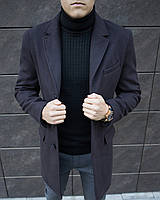 Пальто-тренч мужское кашемировое демисезонное / Coat темно-коричневое
