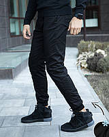 Брюки мужские на флисе / штаны зимние teplo Black, фото 1