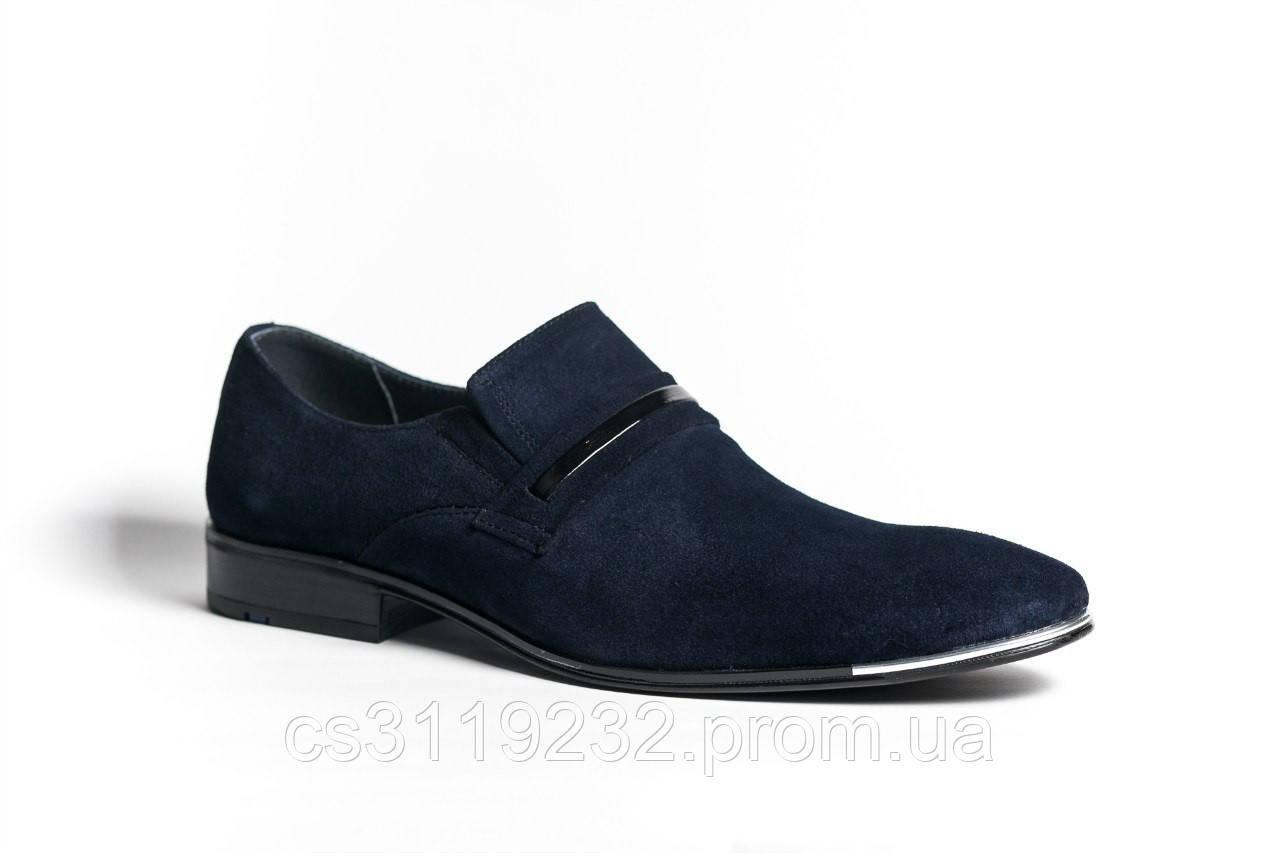 Туфлі замшеві Mano сині