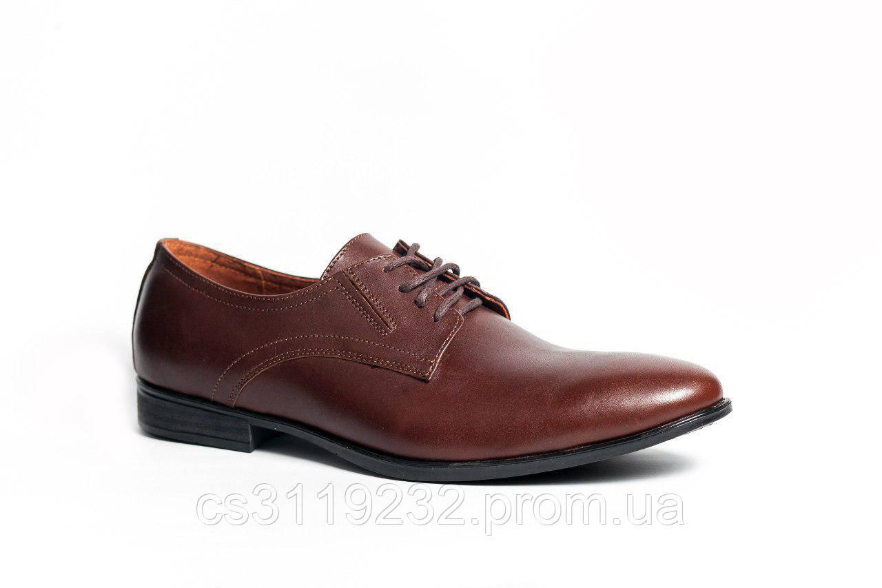 Туфлі дербі Kantsedal коричневі