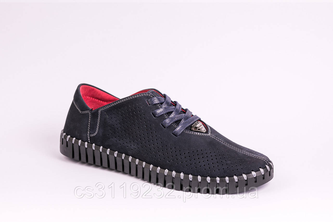 Мокасини Prime Shoes з перфорацією, сині