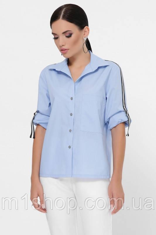 Женская рубашка с лентами вдоль рукава (Santi fup)