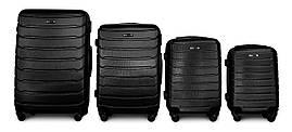 Набор чемоданов 4 штуки в 1 Fly 1107 на 4 колесах Черный