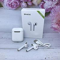 Беспроводные наушники Apple AirPods i9 mini tws Bluetooth с боксом для зарядки (качественная копия Apple)