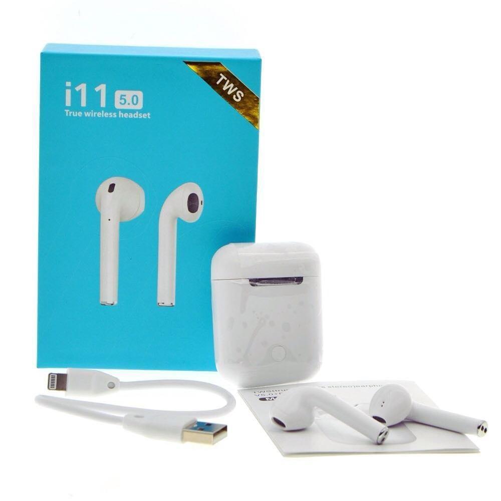 Беспроводные сенсорные наушники Apple AirPods i11 tws Bluetooth с боксом для зарядки