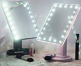 Зеркало для макияжа 22 диода Magic makeup mirror, косметическое зеркало с подсветкой, прямоугольное зеркало, фото 2
