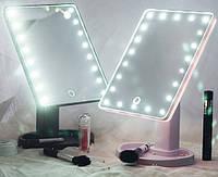 Зеркало для макияжа 22 диода Magic makeup mirror, косметическое зеркало с подсветкой, прямоугольное зеркало