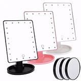 Зеркало для макияжа 22 диода Magic makeup mirror, косметическое зеркало с подсветкой, прямоугольное зеркало, фото 3